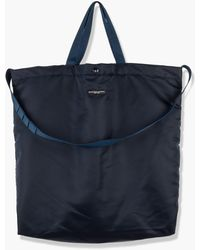 Engineered Garments Carry All Tote Flight Satin Nylon Navy - Blue