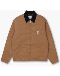 Carhartt WIP Og Detroit Jacket Aged Canvas Hamilton Brown