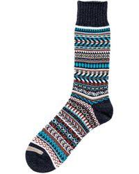 Chup War Bonnet Sock Raven - Blue