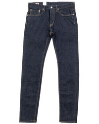 "Edwin Slim Tapered ""made In Japan"" Kaihara Stretch Selvedge Rinsed Blue"