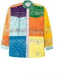 Children of the discordance Bandana Patchwork Shirt Mix Orange 2 - Multicolour