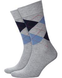 Burlington King Socks Light Grey - Gray