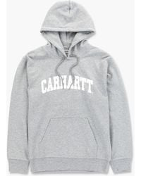 Carhartt WIP - Hooded University Sweatshirt Grey Heather - Lyst