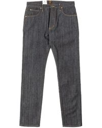 Lee Jeans Rider Jeans Slim Dry Indigo Selvedge 14oz - Blue