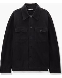 Our Legacy Evening Coach Jacket Brushed Cotton Black