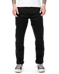 The Unbranded Brand Ub244 Tapered Fit Black Stretch Selvedge 11oz