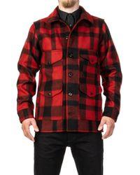 Filson - Mackinaw Cruiser Red/black - Lyst