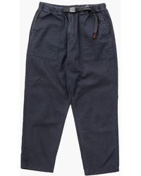 Gramicci Loose Tapered Twill Trousers Double Navy - Blue