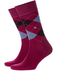 Burlington King Socks Red