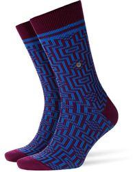 Burlington Illusion Socks Darkred