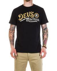 Deus Ex Machina - Engine Tee Black - Lyst