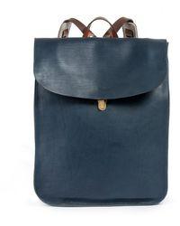 Bleu De Chauffe Arlo Leather Backpack Bleu - Blue