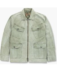 Nigel Cabourn Race Jacket Washed Army - Green