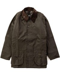 Barbour Bedale Wax Jacket Olive - Green