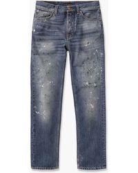 Nudie Jeans Steady Eddie Ii Stain Favorite - Blue