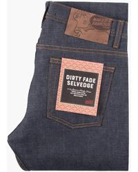 Naked & Famous Weird Guy Dirty Fade Selvedge 14.5oz - Blue