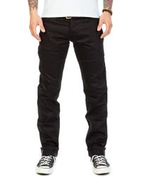 The Unbranded Brand Unbranded Ub255 Tapered Fit Black Chino Selvedge 13oz