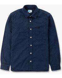 Japan Blue Jeans Indigo Dots Shirt Indigo - Blue