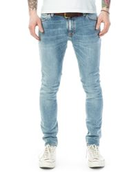 Nudie Jeans - Skinny Lin Light Blue Pwr - Lyst