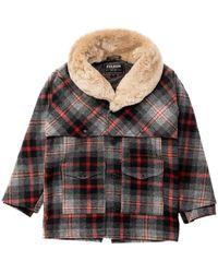 Filson Lined Wool Packer Coat Grey/red