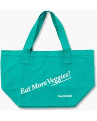 Sporty & Rich Eat Veggies Tote Bag Tropical - Green
