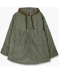 Nigel Cabourn Quilted Parka Army - Green