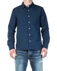 Japan Blue Jeans Jbsa06 Selvage Shirt Dark Indigo - Blue