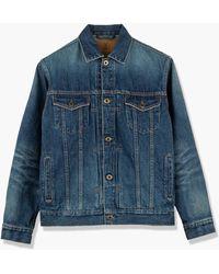 Japan Blue Jeans Cote D'voire Denim Type 4 Jacket Selvedge Faded Indigo 13.5oz - Blue