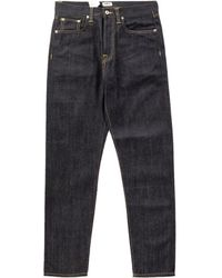 Edwin Ed-45 Rainbow Selvage Indigo Unwashed 12.8oz - Blue