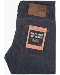 Naked & Famous Super Guy Dirty Fade Selvedge 14.5oz - Blue