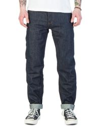 The Unbranded Brand Unbranded Ub601 Relaxed Tapered Fit Indigo Selvedge 14.5oz - Blue