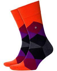 Burlington - Clyde Socks Orange/purple/black - Lyst