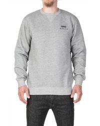 Edwin - Base Crew Heavy Sweatshirt Mouline Grey - Lyst
