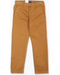Edwin Loose Chino Compact Twill Rubber Garment Dyed - Brown