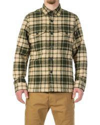 Filson Deer Island Jac-shirt Dark Cream/green Plaid