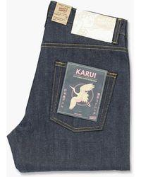 Naked & Famous Easy Guy Karui Stretch Selvedge 10oz Indigo - Blue