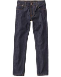 Nudie Jeans Nudie Jeans Thin Finn Dry Ecru Embo 10.75oz - Blue