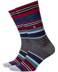 Burlington - Stripe Socks Black - Lyst