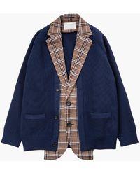 Kolor Jacket A-brown/navy - Blue