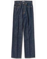 AURALEE Hard Twist Denim 5p Pants Indigo - Blue