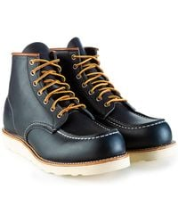 Red Wing 6-inch Classic Moc Boot Navy Portage Leather - Blue