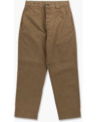 Margaret Howell Mhl. Tapered Trouser Workwear Cotton Drill Khaki - Green