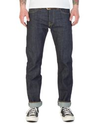 Edwin - X Blitz Ed-71 Red Listed Selvage Denim Blue Unwashed - Lyst