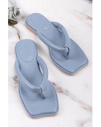 CUPSHE Sweetpea Blue Thong Sandals