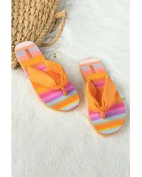 CUPSHE Rainbow Pop Ombre Thong Sandals - Orange
