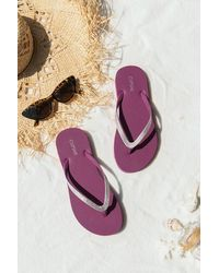 CUPSHE Mulberry Fuchsia Flip Flops - Purple