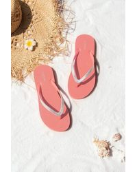 CUPSHE Blossom Coral Flip Flops - Pink
