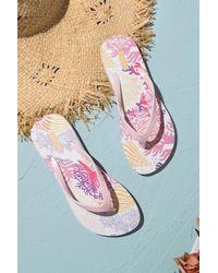 CUPSHE Treasure Hunt Ocean Print Flip Flops - Pink