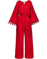 My Sleeping Gypsy Rosha Long Jumpsuit - Red