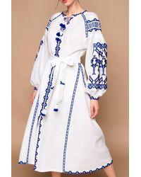 My Sleeping Gypsy Lace Midi Dress - Blue